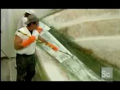 Resin infusion of 43 footer fishing Boat - YouTube