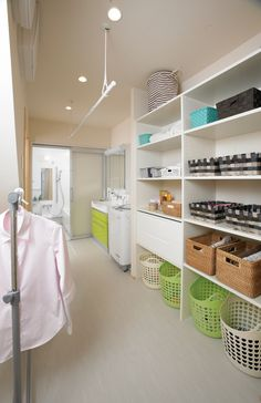 Laundry drying, laundry area, laundry in bathroom, laundry rooms, hang dry Laundry Room Design, Laundry In Bathroom, Laundry Rooms, Laundry Area, Design Blogs, Food Design, Shop Interior Design, House Design, Small Craft Rooms