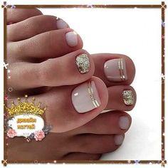 Pedicure Nail Designs, Pedicure Nail Art, Toe Nail Art, Acrylic Nails, Jamberry Pedicure, Pretty Toe Nails, Cute Toe Nails, Diy Nails, Feet Nails