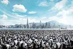 1600 Pandas in Hong Kong – Fubiz™ artist french Paulo Grangeon WWF papier maché