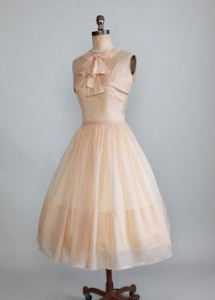 Vintage 1950s Sorbonne Silk Organza Dress