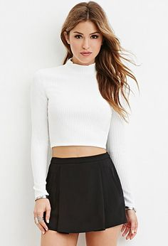 Mock Neck Ribbed Sweater | Forever 21 - 2000182357