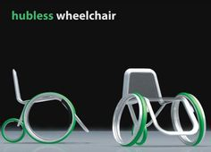 Intended for young and active disabled individuals, the hubless wheelchair comes with a supportive mesh fabric seat suspended on a lightweight carbon fiber frame.  Not just sleeker looking but also helps the user to move freely and briskly without putting too much effort.