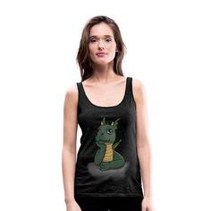 Tank Tops, Design, Women, Fashion, Dragon Girl, Cool Shirts, Sporty, Cotton, Moda