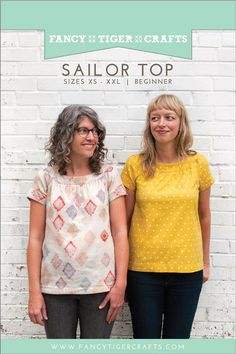 Sailor Top Sewing Pattern by Fancy Tiger Crafts