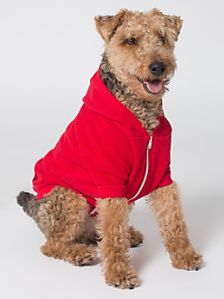 Flex Fleece Dog Zip Hoodie ~ 50/50 Combed cotton/polyester ~ Zipper enclosure ~ Kangaroo pocket and opening for leash | American Apparel