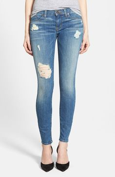 Hudson Jeans 'Krista' Super Skinny Jeans (Undercut) available at #Nordstrom