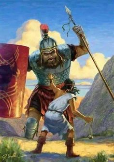 David and Goliath Bible Pictures, Religious Pictures, Religious Art, David Bible, Psalm 133, Arte Judaica, Religion, David And Goliath, Bible Illustrations
