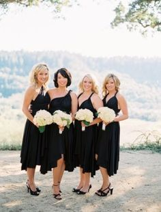 two birds bridesmaid dresses. Tie dress several different ways.