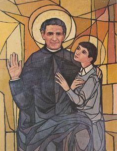 San Giovanni, Diy Clothes Videos, Stained Glass Windows, Saints, Painting, St John Bosco, Polish Nails, Bible, Art