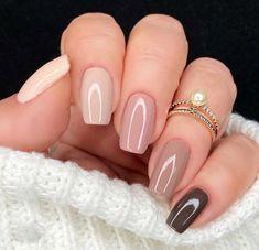 Acrylic Nails Nude, Gel Nails, Nail Polish, Stylish Nails, Trendy Nails, Multicolored Nails, Nagellack Design, Neutral Nails, Neutral Nail Designs