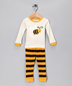 Take a look at this Yellow Bee Pajama Set - Infant, Toddler & Kids by Leveret Baby on #zulily today!