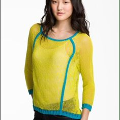 Trouvé yellow piped pullover Yellow piped pullover Trouve Sweaters