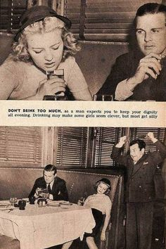 From 10 Dating Rules for Women-1950's: 10) Don't drink too much!