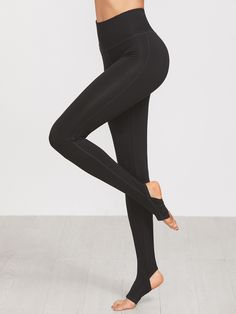 a63661f4dda54 Buy Black Wide Waistband Topstitch Stirrup Leggings from abaday.com, FREE  shipping Worldwide -