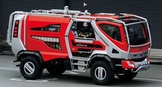 future, Fire-Fighting Wildfire Truck, vehicle, concept, red, Morita Holdings Corporation, transportation, futuristic
