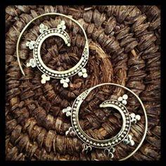ooh so fun Brass Tribal Earrings by Talizmani on Etsy, $30.00
