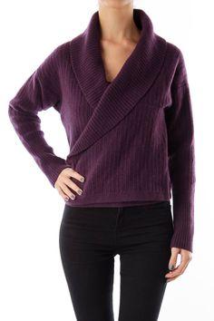 Like this DVF sweater? Shop this without using money! Trade. Shop. Discover. #fashionexchange #prelovedfashion  Purple Crop Sweater by Diane Von Furstenberg