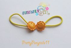 Yellow Sunshine Ponytail Holders by PrettyPonytails11 on Etsy, $3.50