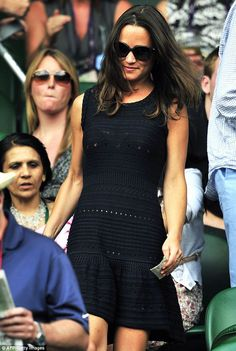 Pippa Middleton wears a Tania dress to Wimbledon.