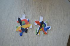 are you puzzled? Earrings at PICASSZOS at etsy