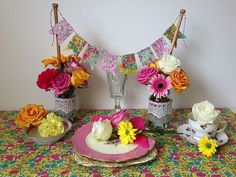 Allison Sadler's Liberty Print Bunting and Jam Jar Wedding Decorations - Liberty London Blog