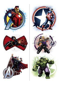 Avengers Temporary Tattoos (2 Sheets)