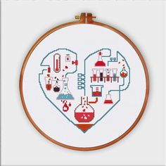 Chemistry of Love funny love cross stitch pattern by ThuHaDesign