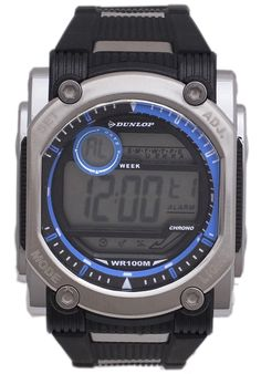 Price:$26.01 #watches Dunlop DUN-78-G03, This Dunlop timepiece is designed for the sporty Men. It's size, ruggedness and multiple functions make it a great value. Sport Watches, Watches For Men, Black Quartz, Watch 24, Black Stainless Steel, Black Rubber, Casio Watch, Digital Watch, Quartz Watch
