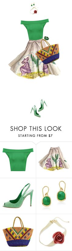 """""""Pattern Mixing For Spring"""" by ittie-kittie on Polyvore featuring WearAll, Sergio Rossi, Monica Vinader, Sensi Studio, Erica Lyons, NOVICA, Spring, SpringStyle, springfashion and patternmixing"""