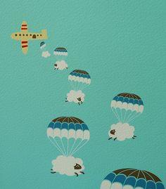 Les moutons parachutistes !