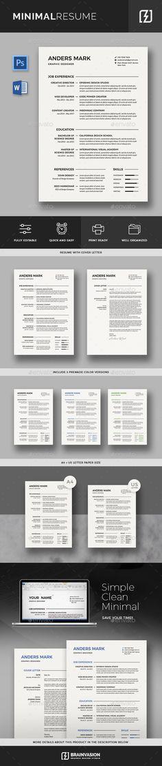 Resume Template PSD, Vector EPS, AI, DOCX  DOC Resume Templates