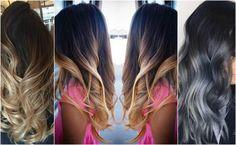 Włosy ombre czarne - idealne fryzury