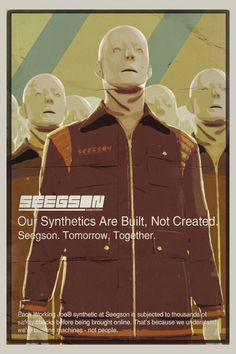 """The Working Joe, Alien: Isolation. """"Our synthetics are built, not created. Seegson, Tomorrow, Together."""" -Seegson"""