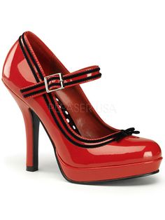 "Women's ""Secret"" Heels by Pinup Couture (Red)"