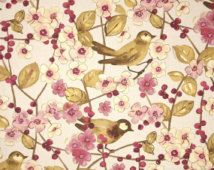 Custom Fabric Shower Curtain Waverly In the Air Heather ochre plum orchid brown cream ivory yellow  72 x 84 72 74 78 84 90 96 Extra long