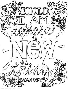 Image result for Isaiah 43:19 coloring page