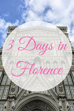 3 Days in Florence - where to go, what (and when) to see it - including a 1-page…