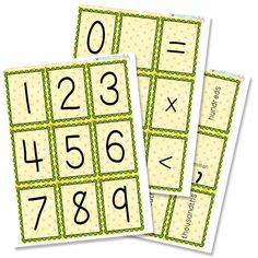 Free Printable Counting Cards