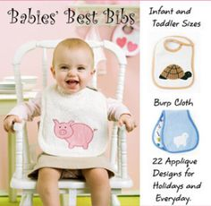 Babies' Best Bibs - downloadable PDF sewing pattern and instructions #DIY