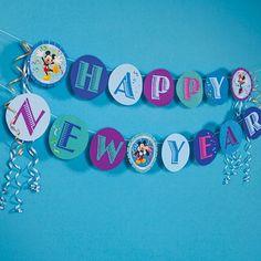 Mickey & Minnie's New Year Celebration Banner
