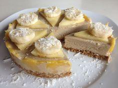 Piñacolada Ice Cream Cake (low fat raw vegan)