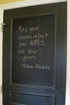 black door chalkboard paint-quotes