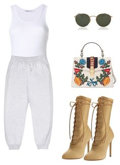 """""""Untitled #106"""" by xokimmia on Polyvore featuring Yeezy by Kanye West, Gucci and Ray-Ban"""