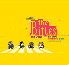 The Bitles - 8.bit tribute by Alejo Accini, via Behance