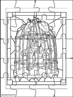 printable jigsaw puzzles to cut out for kids spiderwick 12 coloring pages