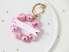 A Bubbly Life: DIY Disco Ball Wreath Place Cards & Ornaments