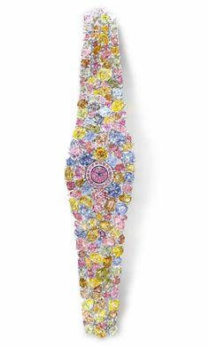 Le diamantaire britannique Graff a dévoilé une montre à 55 millions de dollars (40 millions d'euros) à Baseworld, le salon international de l'horlogerie et de la joaillerie qui a ouvert jeudi au public en Suisse.
