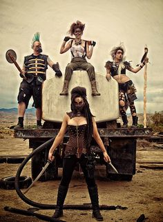 """Gritty """"Mad Max"""" Group Cosplay"""