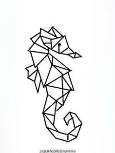 geometric animals animal drawing drawings easy polygon figuras origami con creative shapes 3d geometry dibujos sea dibujo simple pen graffiti